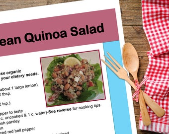 Mediterranean pdf etsy mediterranean quinoa salad recipe downloadable pdf or jpeg eating cleaner gluten free recipe file forumfinder Images