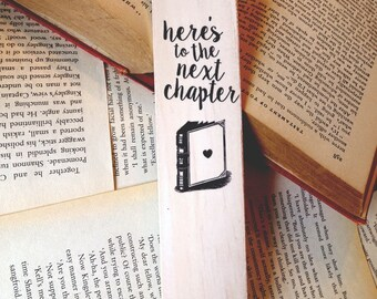 NEXT CHAPTER | Lillytales Wooden Bookmark