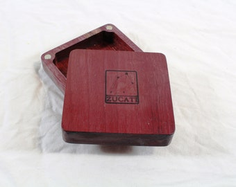 Zucati Dice Base™: Quarter Core - Purpleheart Wood