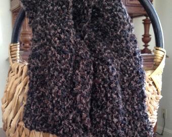 Brown / Black bulky cowl