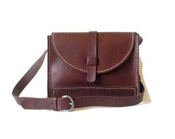 Leather shoulder bag, bordeaux leather handbag, small leather handbag, rectangular bag, handbag, gift for you, leather handbag