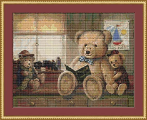 Bear Stories Cross Stitch Pattern /Digital PDF Files /Instant downloadable