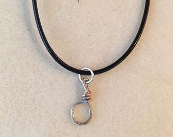 Abstract Metal Loop Necklace