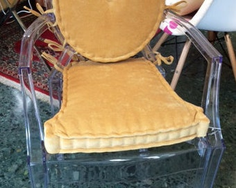ONLY back cushion for Louis Ghost chair. (Not including the seat cushion)