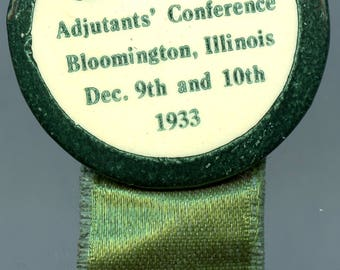 American Legion Commanders' and Adjutants' Conference event pin 1933