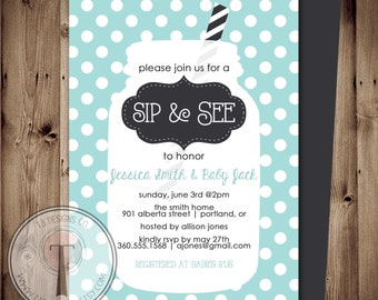 Sip and See Invitation, BABY SHOWER invitation, baby boy, baby shower, little man, baby shower invitation, sip n see, sip and see