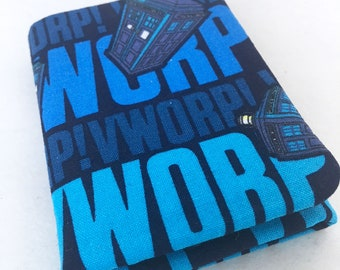 Fandom TriFold Doctor Who Vworp Vworp TARDIS Wibbly Wobbly Timey Wimey Wallet