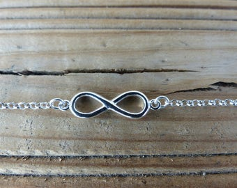 Silver 925 chain infinity bracelet