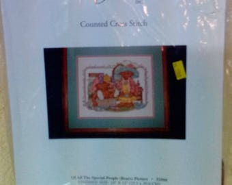 Kit-Of All The Special People (Bears) Picture, #51066, Counted Cross Stitch, 10 x 12 inches, Candamar Designs, Vintage