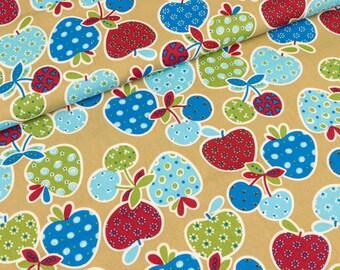 Cotton fabric Albella cherries and apples on beige (9.90 EUR/meter)