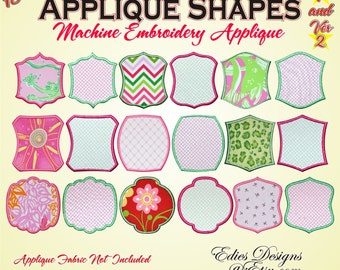 Applique Shapes BUNDLE Pack Machine Embroidery Designs Digital Download