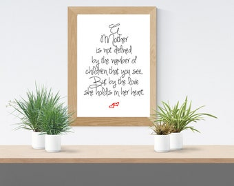 Baby Loss Mother's Day A4/A5 Print for those who have lost a child. Baby loss, miscarriage.