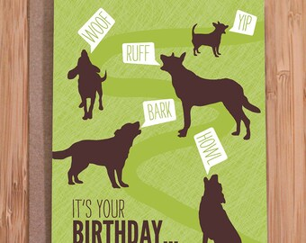 funny birthday card / dogs