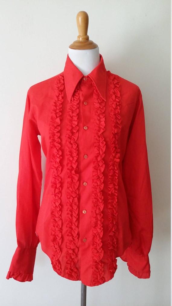 Jaytex Ruffled Shirt 1970s. dIOmi