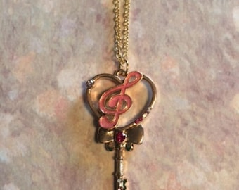 Music Gift - Music Jewelry - Music Necklace - Music Note Necklace - Treble Clef Necklace - Music Student Gift - Key Necklace - Music Lover