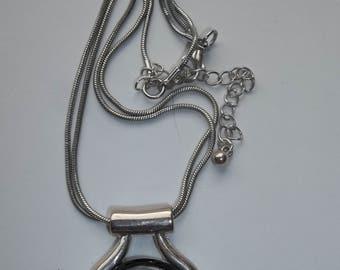 Blue Moon Glow Pendant Necklace.    # CC