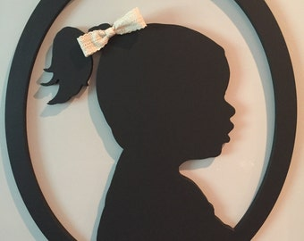 Custom Wood Silhouette, Child Silhouette, Silhouette, Silhouettes, Personalized, Children, Christmas, Mother's Day, Gift for Her