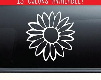 Flower Vinyl Decal Laptop Car Truck Bumper Window Sticker
