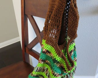 Green and Brown Eco-Friendly Tote