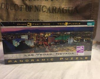 Las VEGAS panoramic puzzle New-750 pieces-RARE
