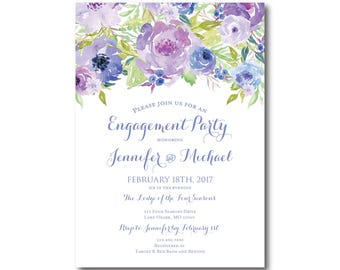 Engagement Party Invitation Floral Engagement Invitation Party Invitation Engagement Invite Floral Party Invitation #CL330