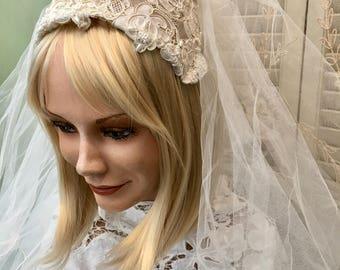 Pretty Vintage Juliet Cap Style Wedding Veil