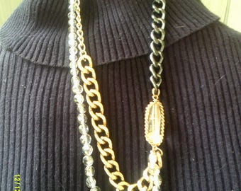 Vintage Kenneth Cole Fashion Necklace, Multi Chain Necklace, Statement Jewelry, Multi Strand Necklace