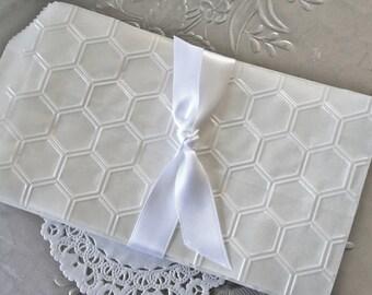 25 Glassine Favor Bags, Honeycomb Hexagon