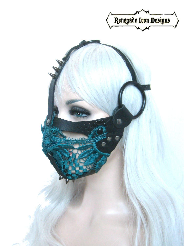 spitze maske ledermaske fetisch maske gesicht k fig. Black Bedroom Furniture Sets. Home Design Ideas