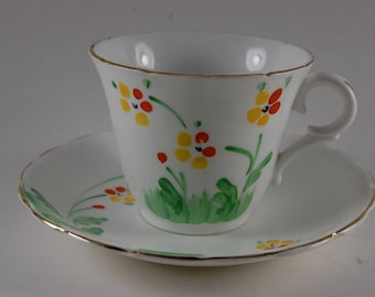 Colclough Hand Painted Tea Cup and Saucer