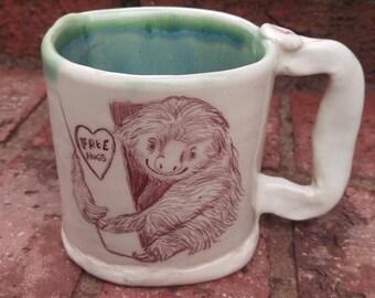 Free Hugs Sloth Mug