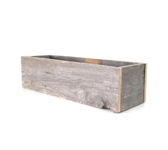 Reclaimed wood box rustic wedding centerpiece or decoration