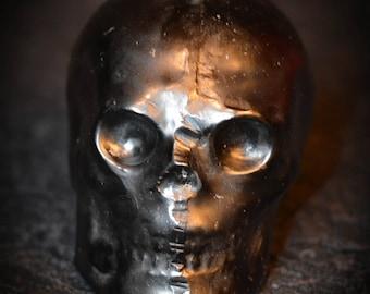 1LB. Black Paraffin Ritual Skull Candle
