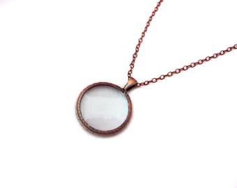 Small Copper Monocle Necklace