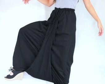 Women Black Harem Pants / Black Trouser / Black Pants / Loose Baggy Pants in Black / Festival Genie Aladdin Pants / Sarouel pants - 22046