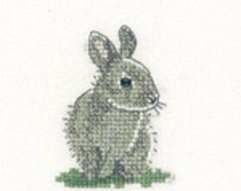 Baby Rabbit  Cross Stitch Kit from  Heritage Craft Little Friends on 14ct Aida, needlework kit, cross stitch, counted cross stitch kit