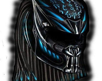 Amazing Predator Helmet Street Fighter  DOT Approved