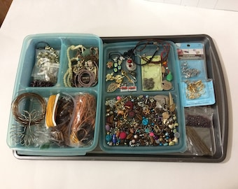 Jewelry Craft Supplies Case Wire String Beads Buttons Buddha Owl Leaves
