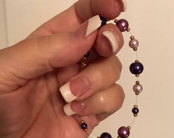 Purple Pearl bracelet