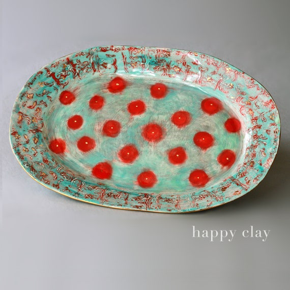 Handmade Large Ceramic Serving Platter