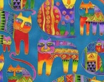 Laurel Burch Fanciful Felines OOP Fabric #90343-4M