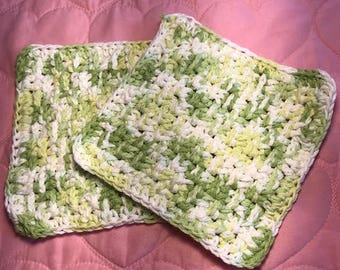 Set of 2 Hand Crocheted Dish Cloths