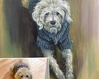 Pet commission pet portrait dog portrait cat portrait
