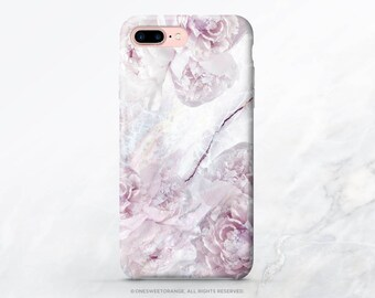iPhone 8 Case iPhone X Case iPhone 7 Plus Case Pink Marble Peony iPhone 7 Case iPhone SE Case Case Samsung S8 Plus Case Galaxy S8 Case I199