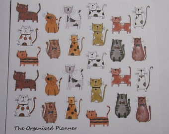 Cat Stickers/ Kitty Stickers / Cute Stickers / Planner Stickers