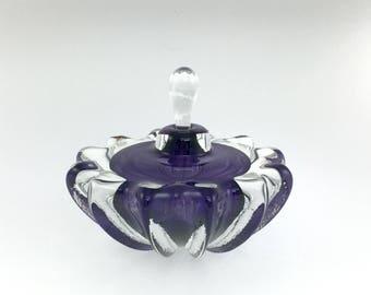 SPECIAL Hand Blown Glass Perfume Bottle - Purple #2 Optic  by Jonathan Winfisky