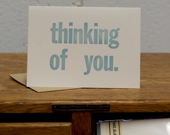 Thinking of You Letterpress Card by MLK&toast