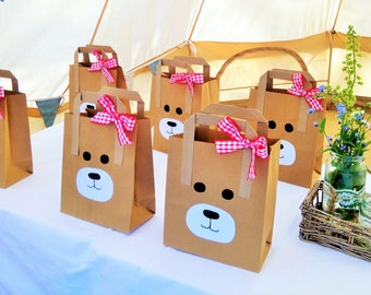 Party Bags | Teddy Bear Party Bags | Loot Bags | Baby Shower | Gift Bags |Teddy Bear