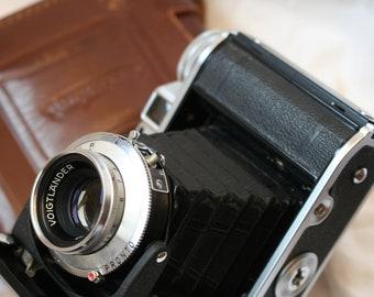 Stunning Voightlander Perkeo 1 Cased 120 Film Camera Vaskar 80mm F4.5 Lens