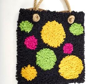 Proggy® Black Spotty Bag Rag Rug Kit